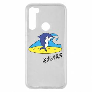 Etui na Xiaomi Redmi Note 8 Shark on the beach