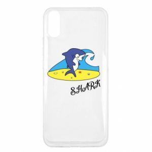 Etui na Xiaomi Redmi 9a Shark on the beach