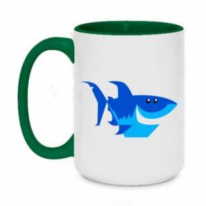 Kubek dwukolorowy 450ml Shark smile