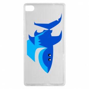 Etui na Huawei P8 Shark smile