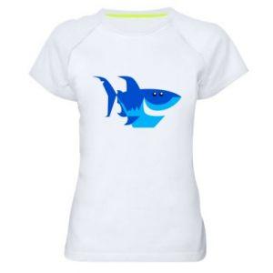 Koszulka sportowa damska Shark smile