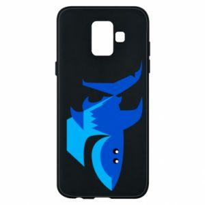 Etui na Samsung A6 2018 Shark smile