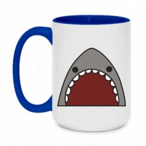Two-toned mug 450ml Shark
