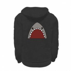 Kid's zipped hoodie % print% Shark