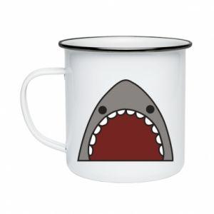 Kubek emaliowane Shark
