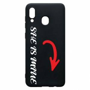 Phone case for Samsung A20 She is mine