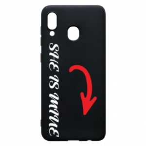 Phone case for Samsung A30 She is mine
