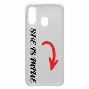 Phone case for Samsung A40 She is mine