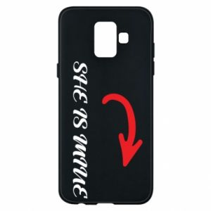Phone case for Samsung A6 2018 She is mine