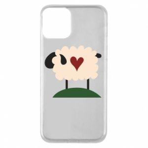 Etui na iPhone 11 Sheep with heart