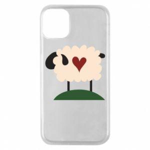 Etui na iPhone 11 Pro Sheep with heart