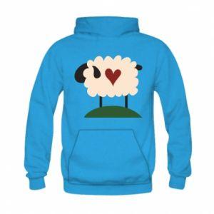 Bluza z kapturem dziecięca Sheep with heart