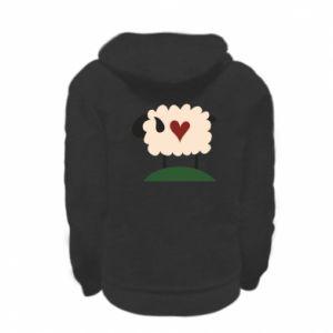 Bluza na zamek dziecięca Sheep with heart