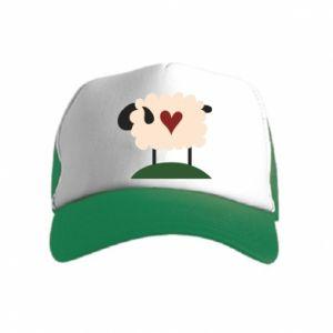 Czapka trucker dziecięca Sheep with heart