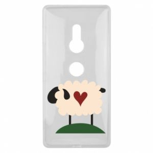 Etui na Sony Xperia XZ2 Sheep with heart