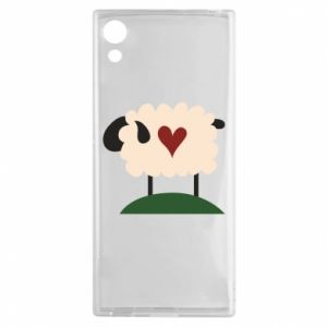Etui na Sony Xperia XA1 Sheep with heart