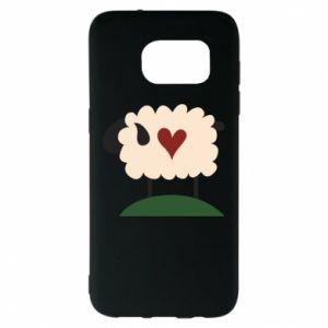 Etui na Samsung S7 EDGE Sheep with heart
