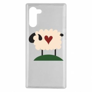 Etui na Samsung Note 10 Sheep with heart