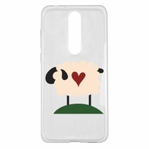 Etui na Nokia 5.1 Plus Sheep with heart