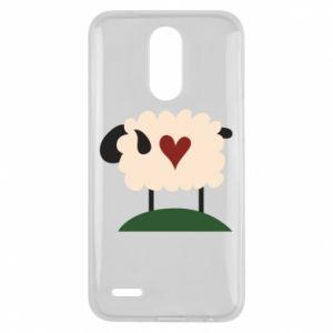Etui na Lg K10 2017 Sheep with heart