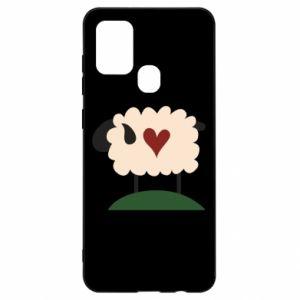 Etui na Samsung A21s Sheep with heart