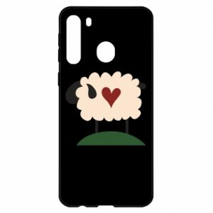 Etui na Samsung A21 Sheep with heart