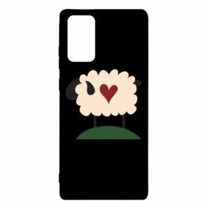 Etui na Samsung Note 20 Sheep with heart