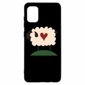 Etui na Samsung A31 Sheep with heart