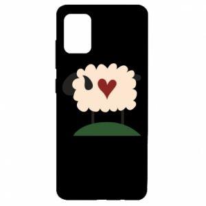 Etui na Samsung A51 Sheep with heart