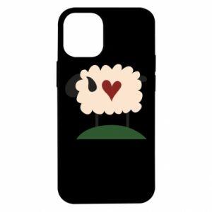 Etui na iPhone 12 Mini Sheep with heart