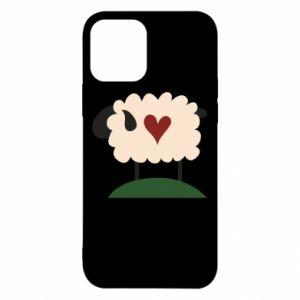 Etui na iPhone 12/12 Pro Sheep with heart