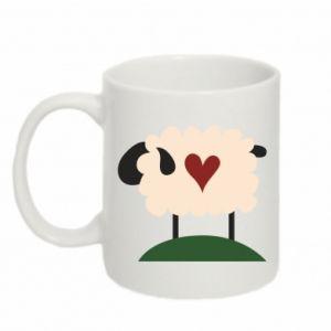 Kubek 330ml Sheep with heart