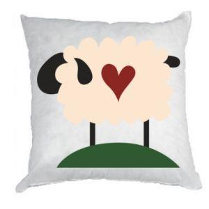 Poduszka Sheep with heart