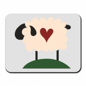 Podkładka pod mysz Sheep with heart