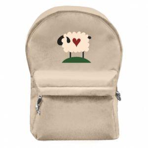 Plecak z przednią kieszenią Sheep with heart