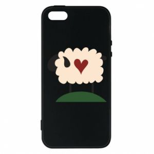 Etui na iPhone 5/5S/SE Sheep with heart