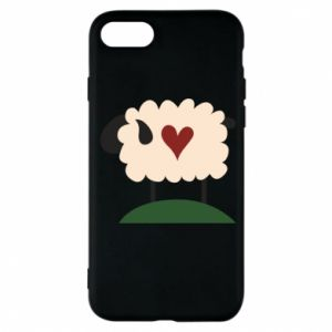 Etui na iPhone 7 Sheep with heart