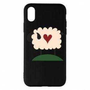 Etui na iPhone X/Xs Sheep with heart