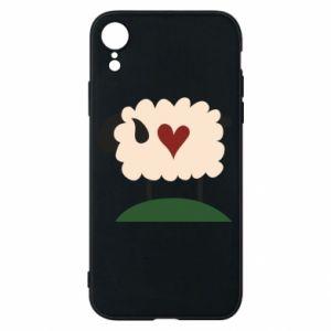 Etui na iPhone XR Sheep with heart