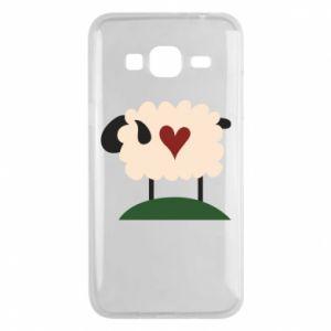 Etui na Samsung J3 2016 Sheep with heart