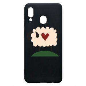 Etui na Samsung A20 Sheep with heart