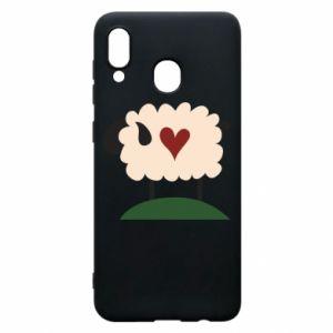 Etui na Samsung A30 Sheep with heart
