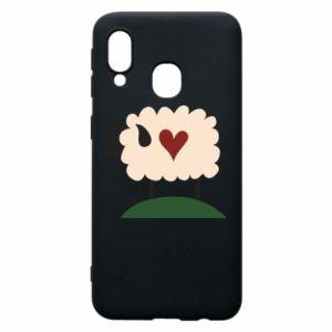 Etui na Samsung A40 Sheep with heart