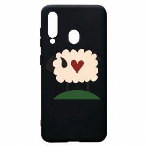Etui na Samsung A60 Sheep with heart