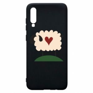 Etui na Samsung A70 Sheep with heart