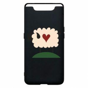 Etui na Samsung A80 Sheep with heart