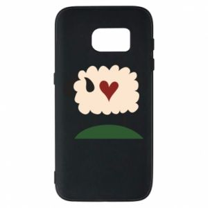 Etui na Samsung S7 Sheep with heart
