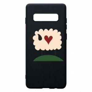 Etui na Samsung S10+ Sheep with heart