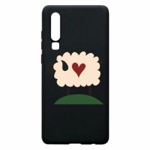 Etui na Huawei P30 Sheep with heart