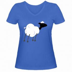 Women's V-neck t-shirt Sheep